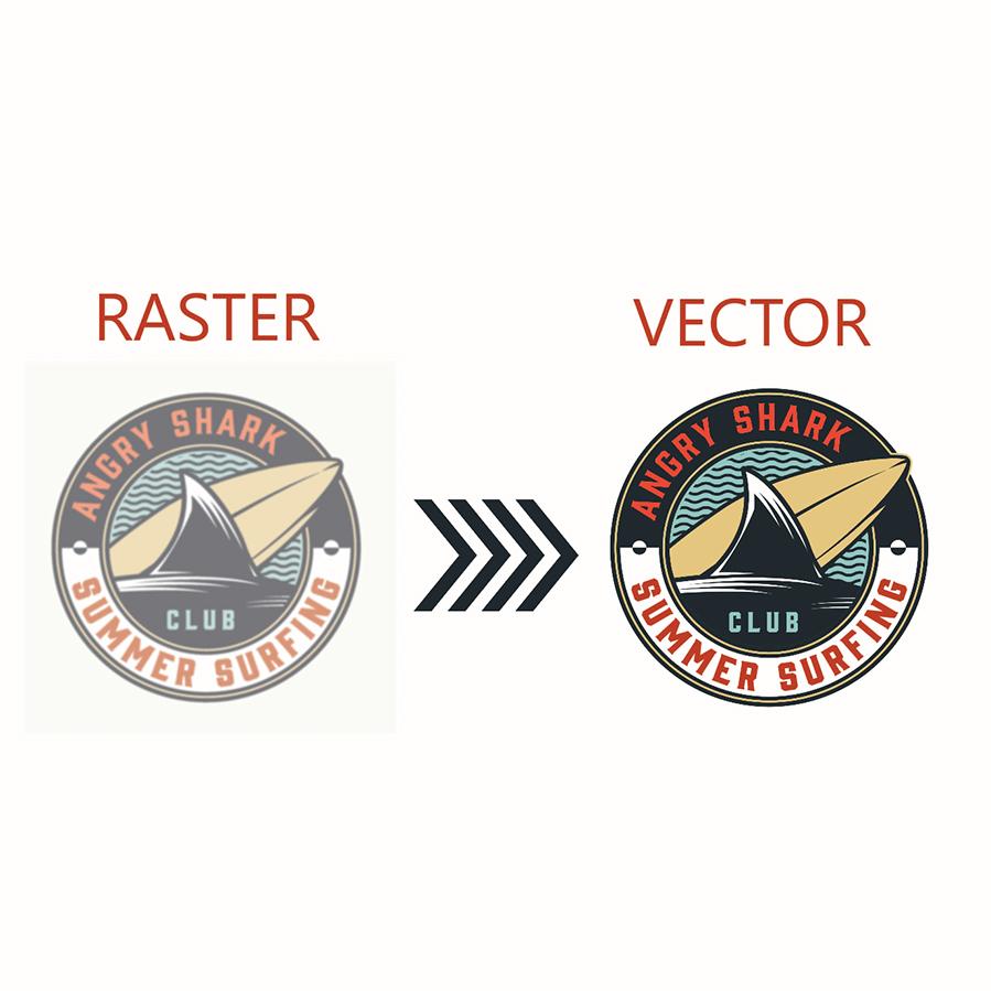 Convert logo raster to vector