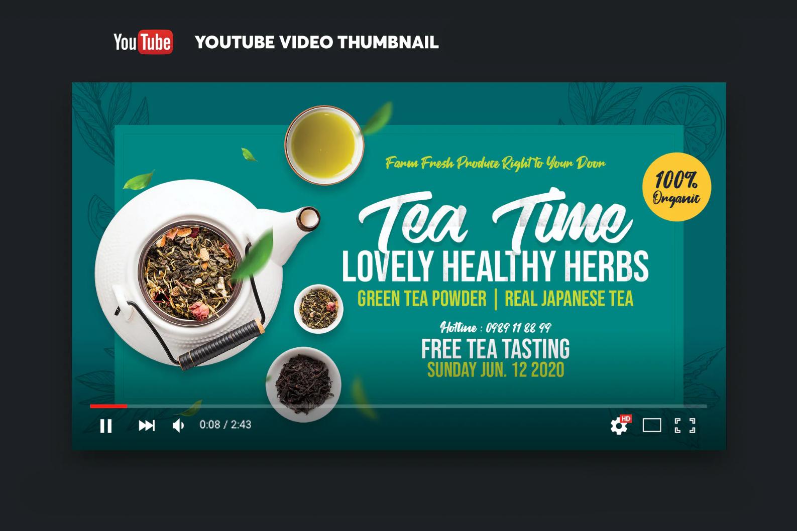 Screenshot 2021-06-16 at 04-43-20 Green Tea YouTube Video Thumbnail Screenshot by YummyDs on Envato Elements