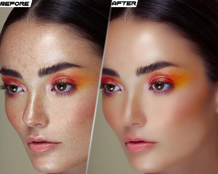 Professional high end photo retouching and image beauty retouching