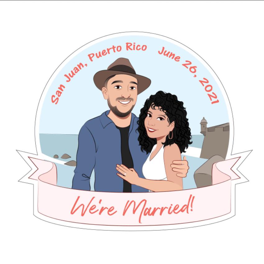 draw cartoon disney portrait for couple, family, wedding - Cartoon Caricature Draw (7)